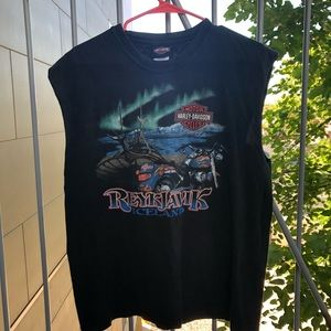 VTG Harley Davidson Iceland *cutoff* T-shirt